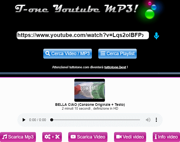 convertitore youtube mp3 online