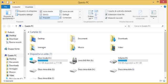 visualizzare estensione file