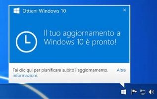 Eliminare ottieni Windows 10