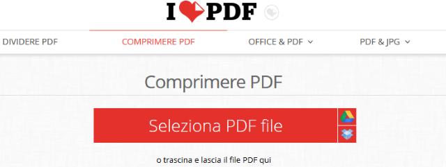comprimere pdf ilovepdf