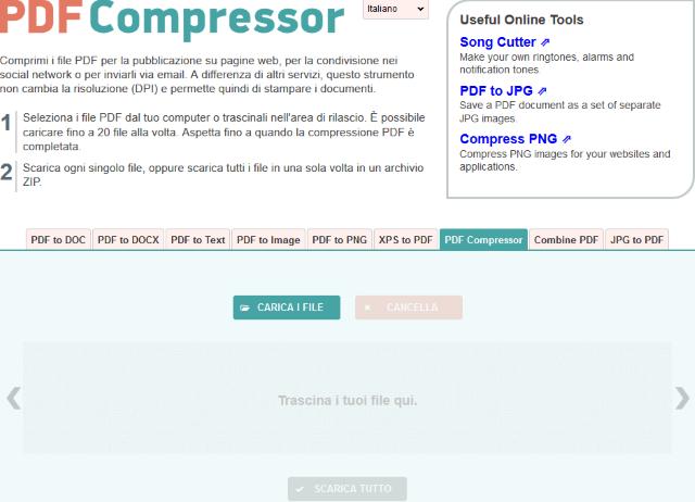 comprimere pdf pdfcompressor