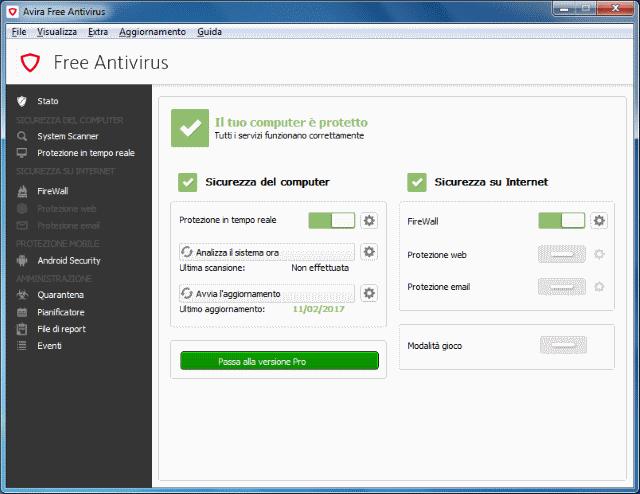 Miglior antivirus gratis 2017 Avira