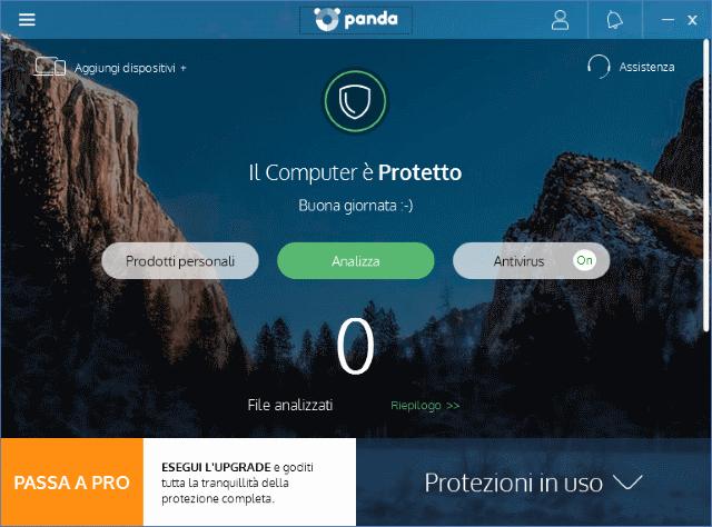 Miglior antivirus gratis 2017 Panda