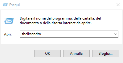 Ripristinare destinatario posta nel menu Invia a di Windows