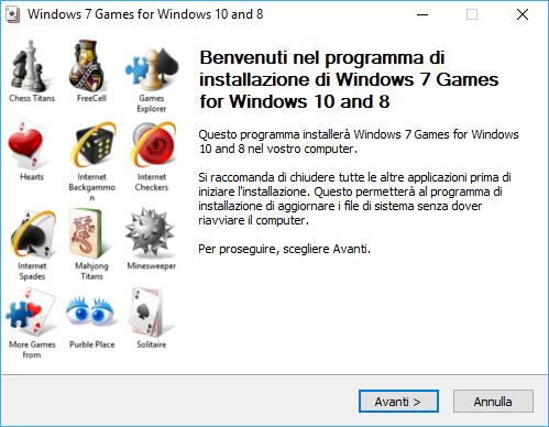 Giochi Windows 7 su Windows 10