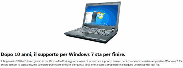 Windows 7 sta per finire