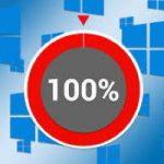 Uso del disco al 100 per cento