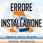 Desktop Telematico: Errore di Windows 2 durante il caricamento di Java VM